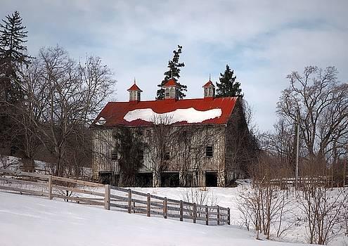 Selma Manor Barn in Winter by Scott Fracasso