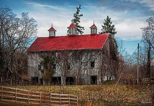 Selma Manor Barn Late Autumn by Scott Fracasso