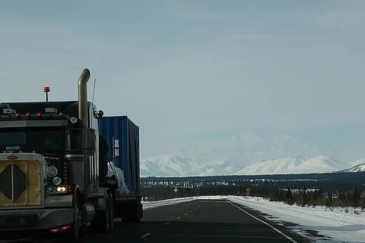 Semi Turck in Alaska by James Thompson