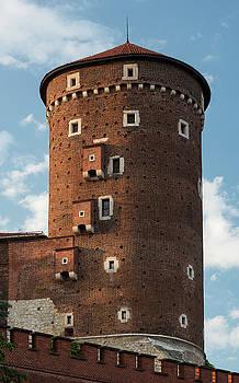 Senatorska Tower of Wawel Castle Poland by Steve Gadomski