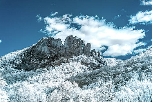 Seneca Rocks in Infrared by Guy Whiteley
