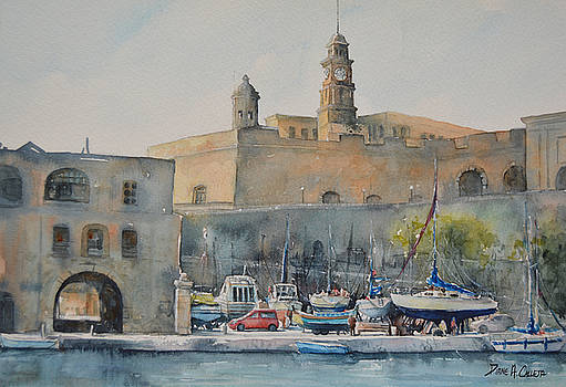 Senglea Boatyard by Diane Agius