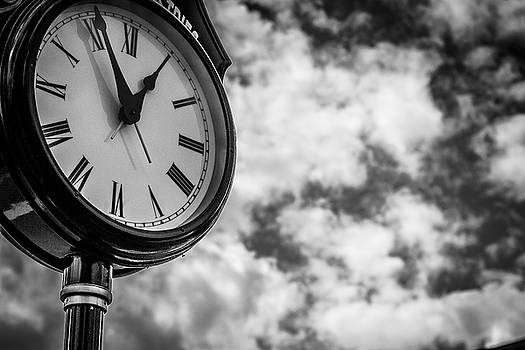 Clock and Clouds - Senoia, Georgia by Randy Bayne