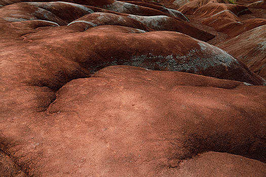 Reimar Gaertner - Sensual shapes of the eroded red rolling hills and gullies at Ch