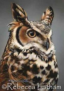 Sentinel - Great Horned Owl by Rebecca Latham