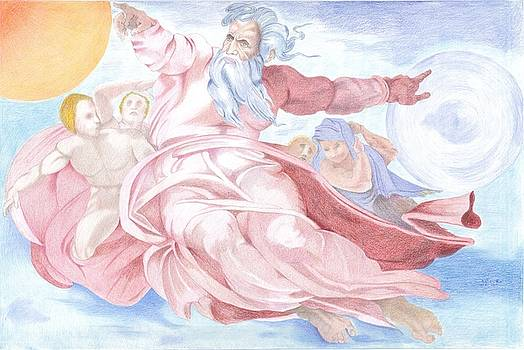 Separation of The Planets Sistine Chapel Michelangelo by Bernardo Capicotto
