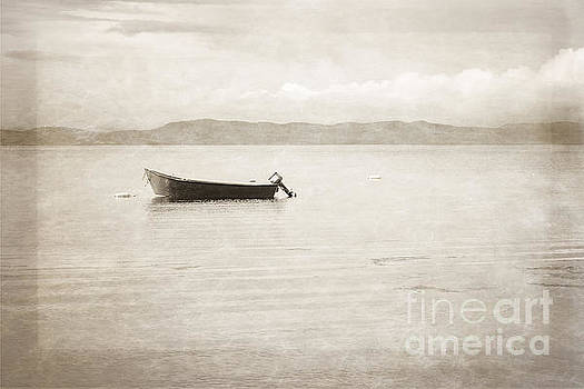 Sepia Boat Print by Miss Dawn