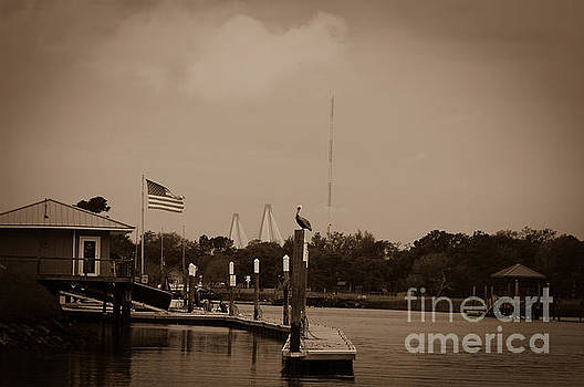 Dale Powell - Sepia Dockside on Shem Creek