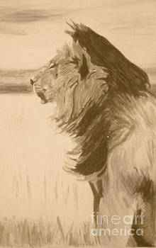 Sepia Lion by Bonnie Cushman