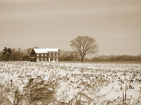 Sepia Molly Pitcher Home by Andrew Kazmierski