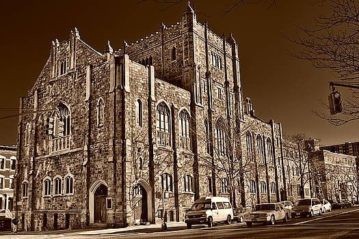 Val Black Russian Tourchin - Sepia Toned Building in Harlem