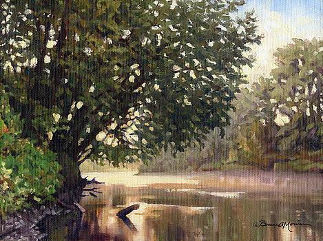 September Dawn Little Sioux River - Plein Air by Bruce Morrison
