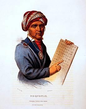 Sequoyah, Cherokee inventor, by C.B. King, ca. 1836 by Vintage Printery