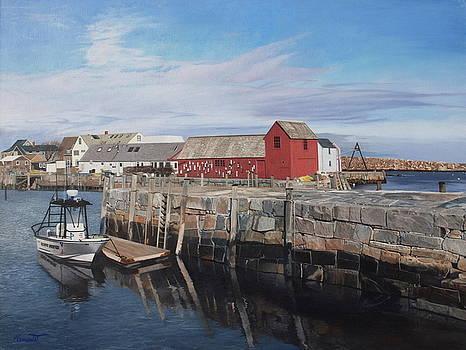 Serene Afternoon at Rockport Harbor    by Barbara Barber