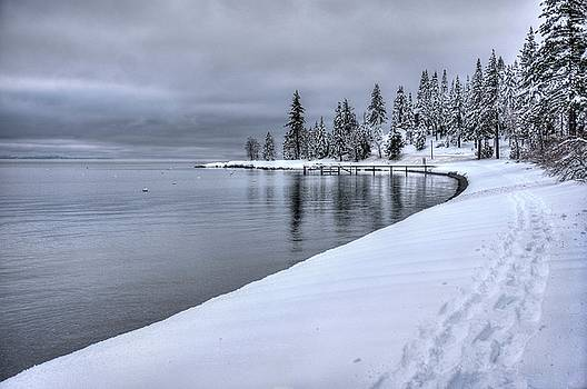 Serene beauty of Lake Tahoe winter by Peter Thoeny