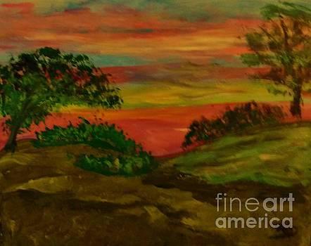 Serene Hillside II by Marie Bulger