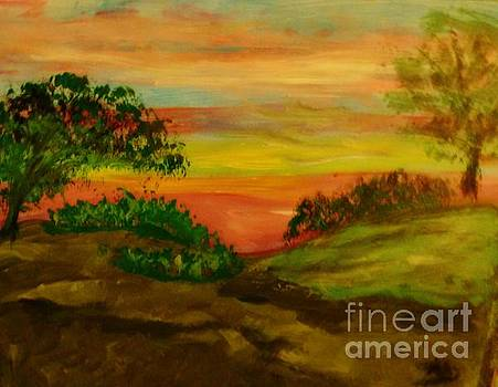 Serene Hillside I by Marie Bulger