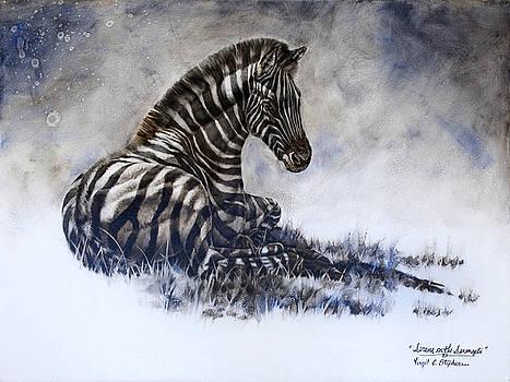 Serene On The Serengeti by Virgil Stephens