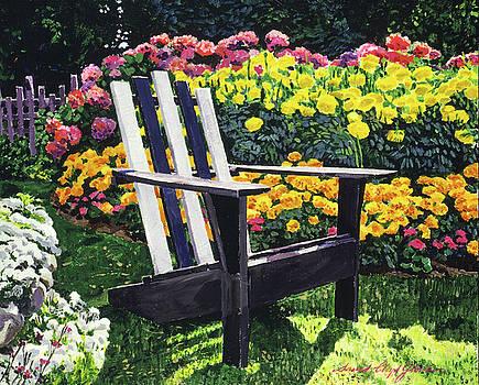 Serenity Among The Hydrangeas by David Lloyd Glover