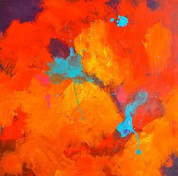 Color Series Painting One Orange by Jim Ellis