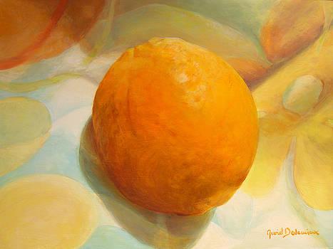 Serviette orange by Muriel Dolemieux