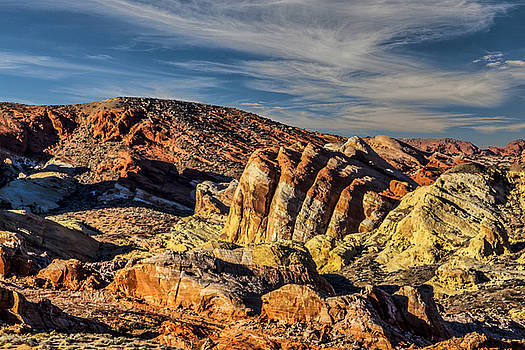 Valley of Fire at sundown by Gej Jones