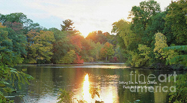 Setting Sun on the River Charles by Rita Brown