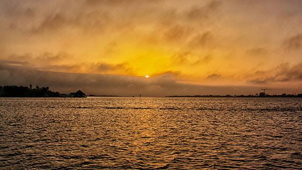 Setting sun by Robert Brown