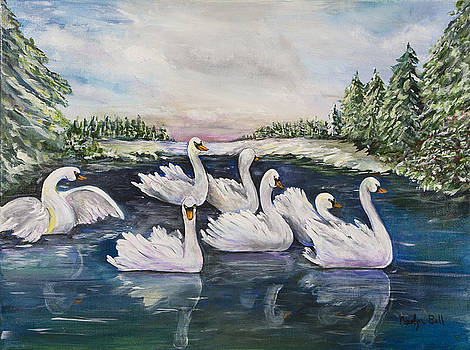 Seven Swans A Swimming by Carolyn Bell