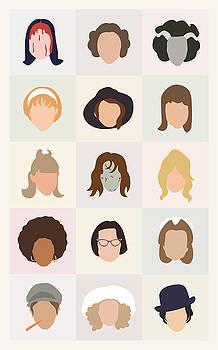 Seventies Movie Chicks by Mitch Frey