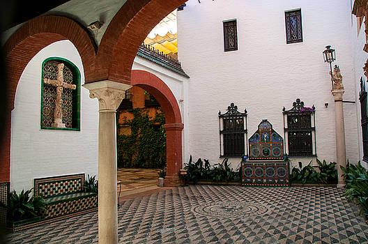 Sevilla Courtyard by Dawn Wayand