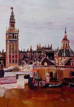 Seville Andalucia Spain with Giralda and Cityscape by M Bleichner