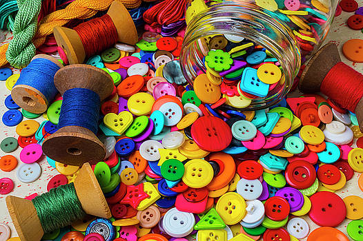 Sewing Buttons And Thread by Garry Gay