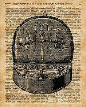 Sewing Tools Dictionary Art by Anna W