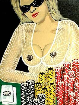 Sexy Poker Girl by Teo Alfonso