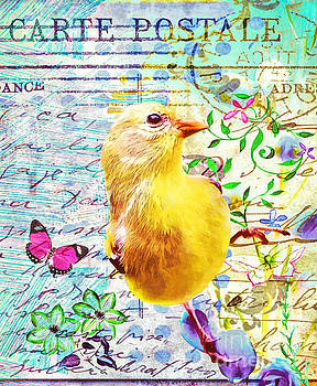 Shabby Chic Goldfinch by Tina LeCour