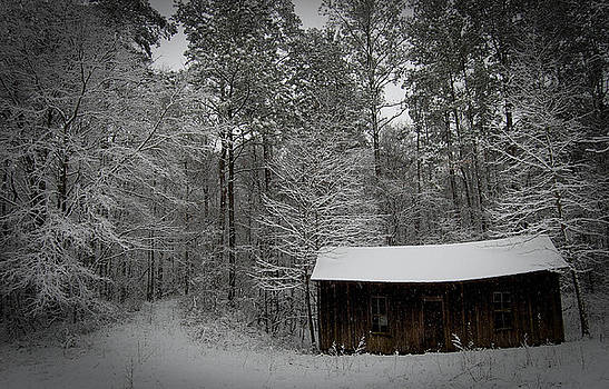 Shack in Snow by Beverly Hammond