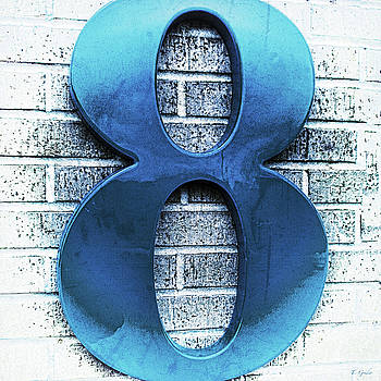 Shades  of Blue Number Eight Square by Tony Grider