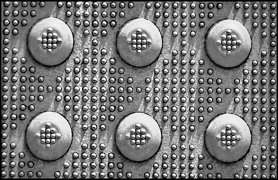 Shades of Gray Dots with Border by Tony Grider