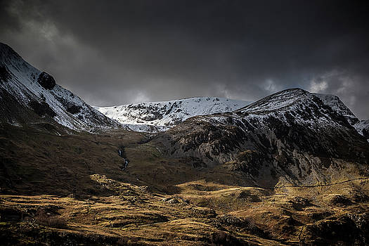 Shadow and Light - Nant Ffrancon Valley, North Wales by Christine Smart