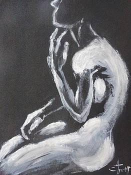 Shadow Figure 3 - Female Nude by Carmen Tyrrell