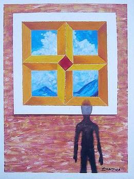 Shadow Vanishing Thru A Window by Joe Santana