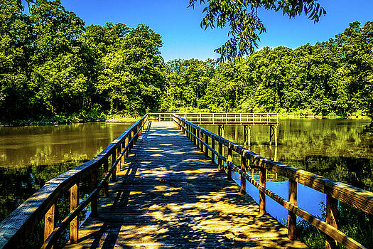 Shadow Walk - Great River Road State Park by Barry Jones