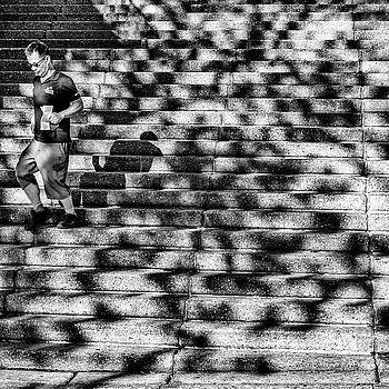 Shadows on the Stairs by Paul Donohoe
