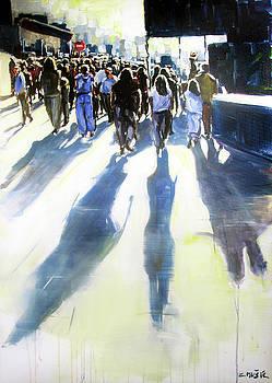 Shadows on the street by Zlatko Music