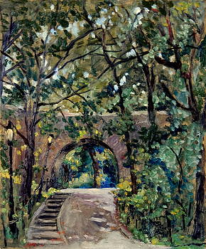 Shady Path near the Cloisters Fort Tryon Park NYC by Thor Wickstrom