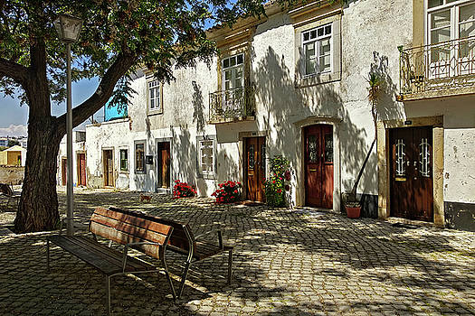 Shady Street in Tavira, Portugal by Barry O Carroll