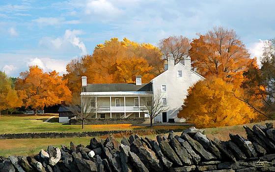 Sam Davis Johnson - Shaker House and Stone Fence