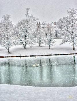 Sam Davis Johnson - Shaker Lake in Snow
