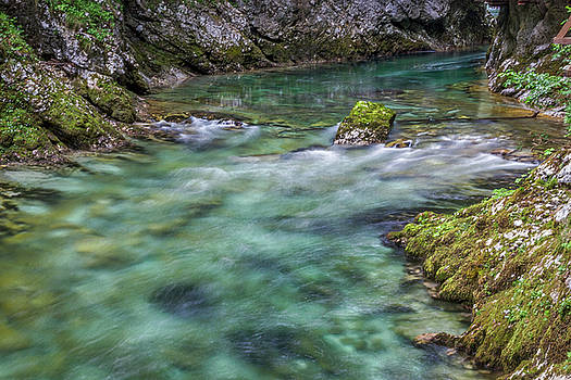 Shallows in the Gorge - Slovenia by Stuart Litoff